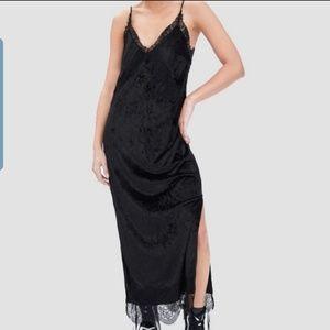🆕️🖤🖤ZARA NWT Velvet Animal Print Camisole Dress